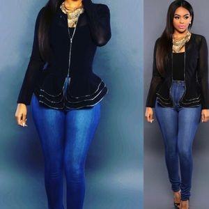 Tops - Women Ruffle jacket Large